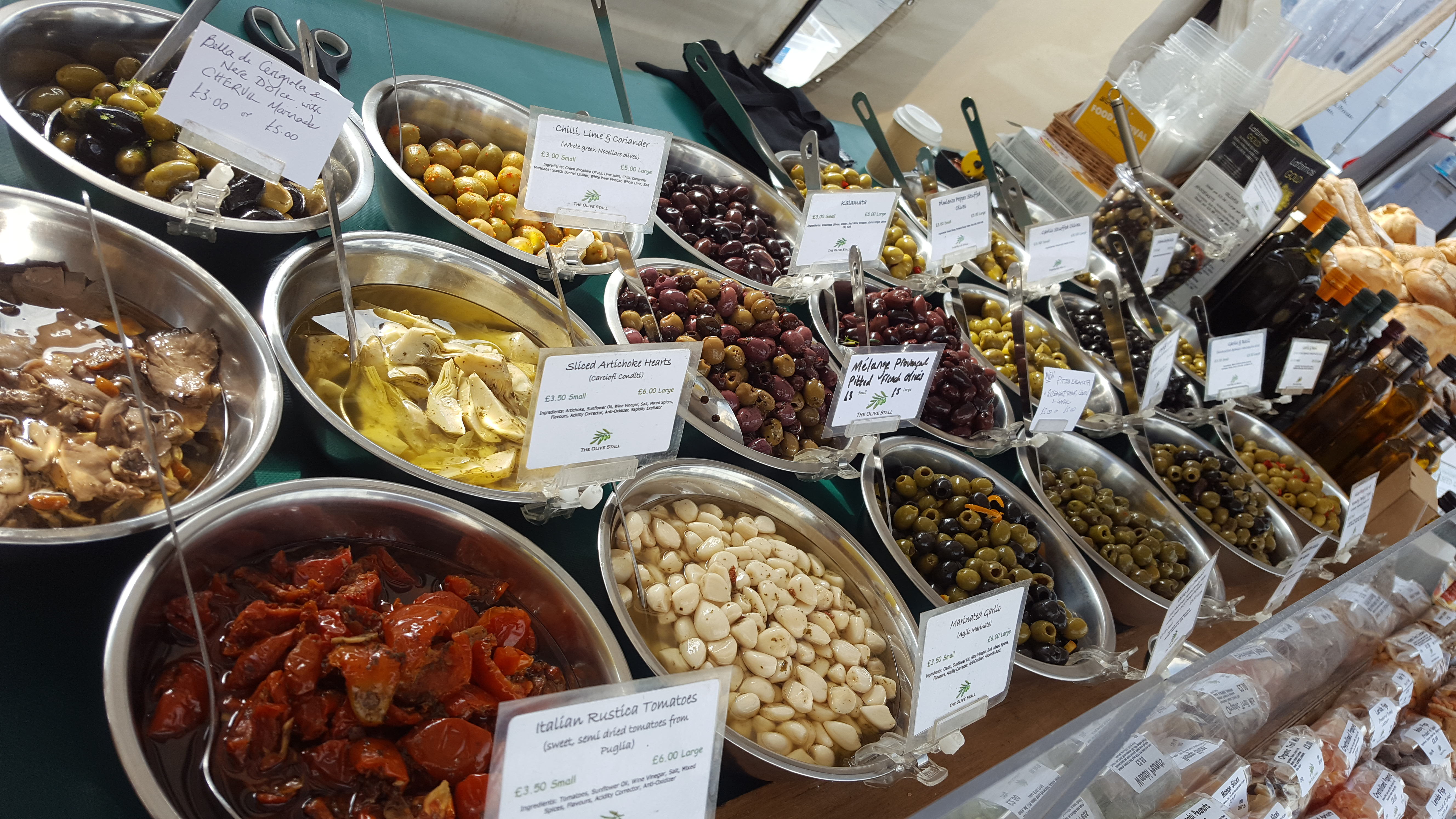 Olives Table Display